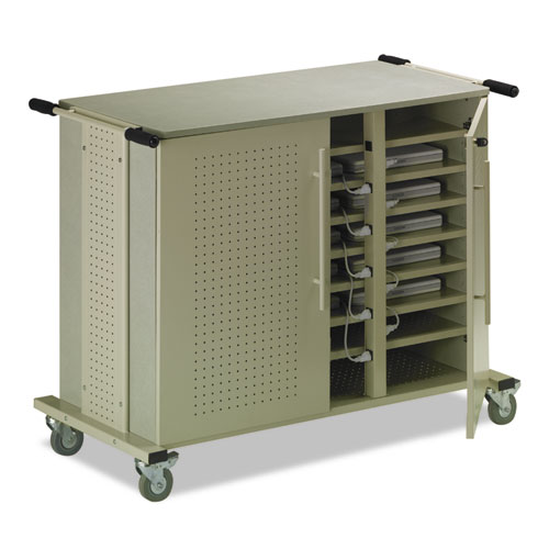 MLNLC1010 Mayline Laptop Cart, 50-1\/2W X 26-1\/2D X 40H, Gray Maytrix\/Sand
