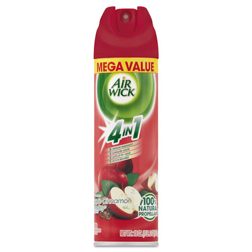 Reckitt Benckiser MEGA-SIZE 4 in 1 Aerosol Air Freshener, 18oz Aerosol, Apple Cinnamon Medley