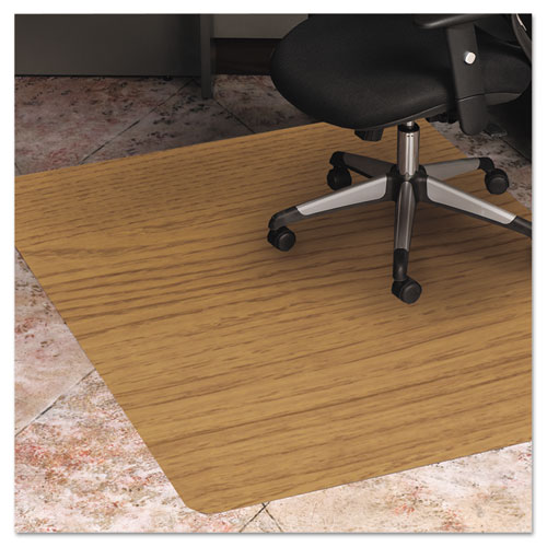 Wood Look Chair Mat For Hard Floors 36 X 48 Natural