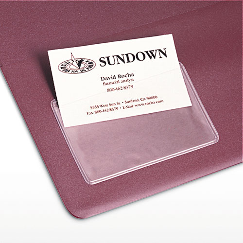 Self Adhesive Business Card Holders Top Load 3 1 2 x 2