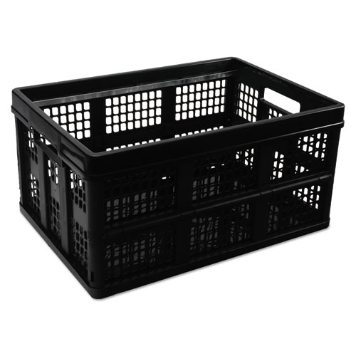 Filing/Storage Tote Storage Box, Plastic, 20 1/8 X 14 5/8 X 10 3/4, Black