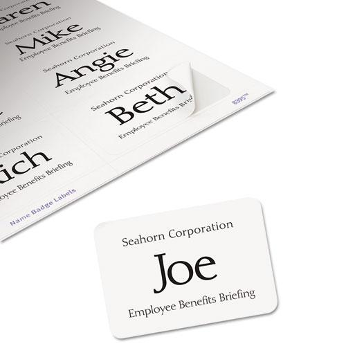 avery 8395 flexible self inkjet name badge