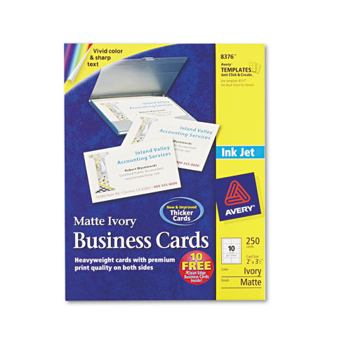 Custom Card Template cost of business cards : Superwarehouse - Avery Dennison Perforated Ink Jet ...