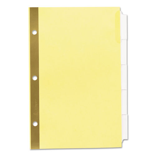 Insertable standard tab dividers 5 tab 8 1 2 x 5 1 2 for 8 large tab insertable dividers template