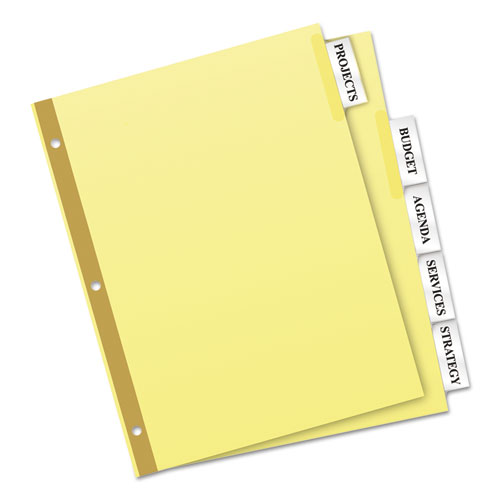 Avery 11110 insertable big tab dividers 5 tab letter for 5 tab insertable dividers template