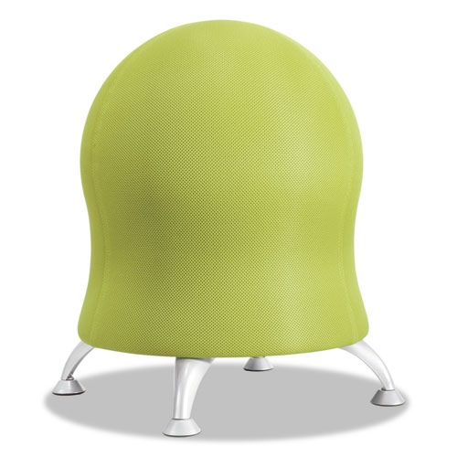 Zenergy Ball Chair, 22 1/2in Diameter x 23in High, Grass/ Silver