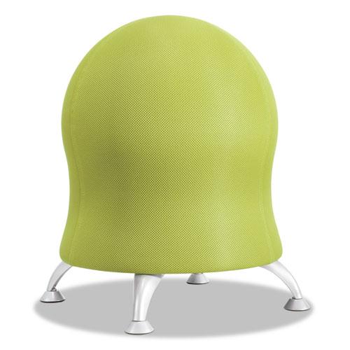 Zenergy Ball Chair, 22 1/2in Diameter x 23in High, Grass/ Silver