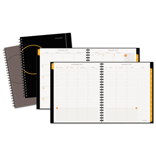 AAG70595000 At A Glance Poly Cover WeeklyMonthly Planner 8 34 X 11 Assorted 2015