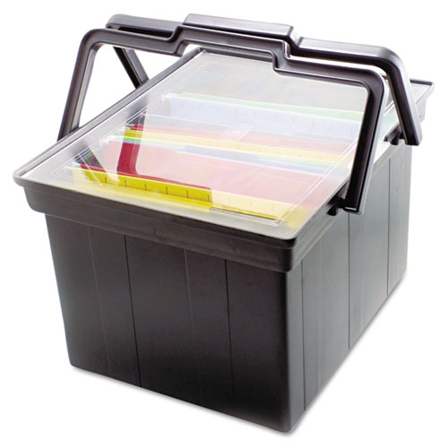 Advantus New Companion Portable File Storage Box, Legal/Letter, Plastic, Black at Sears.com