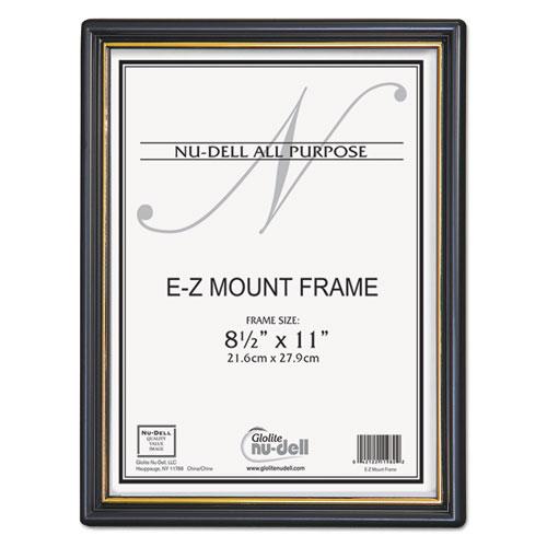 EZ Mount Document Frame with Trim Accent, Plastic, 8-1/2 x 11, Black ...