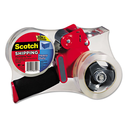 MMM38502ST Scotch Packaging Tape Dispenser With Two Rolls Of Tape, 1.88