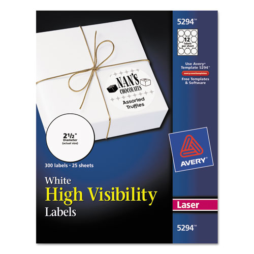 Superwarehouse - High-Visibility Round Permanent ID Labels ...