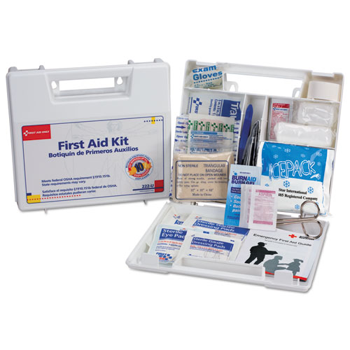 FAO222U First Aid Onlya, First Aid Kit For 10 People, 63-Pieces, Osha Compliant, Plastic Case