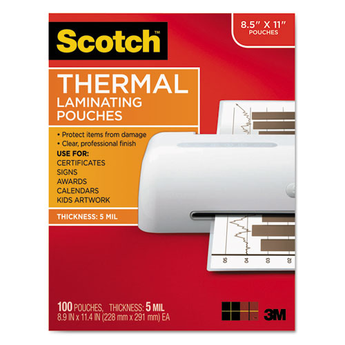 5 mil Scotch Photo size thermal laminating pouches 20//pack 7 1//4 x 5 3//8