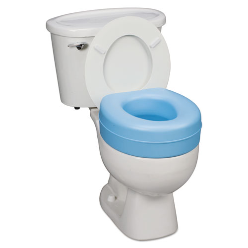 Deluxe Plastic Toilet Seat Cushion 5 Blue Carolina Imaging Products