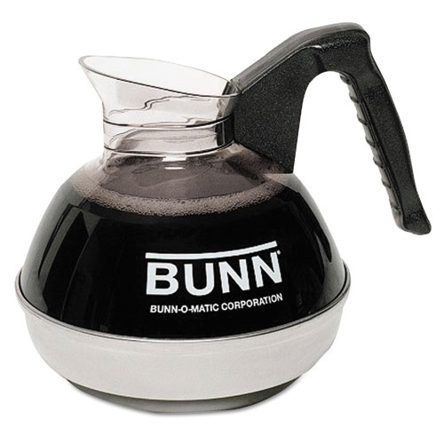 BUN6100 Bunn 12-Cup Coffee Carafe For Pour-O-Matic Bunn Coffee Makers, Black Handle photo