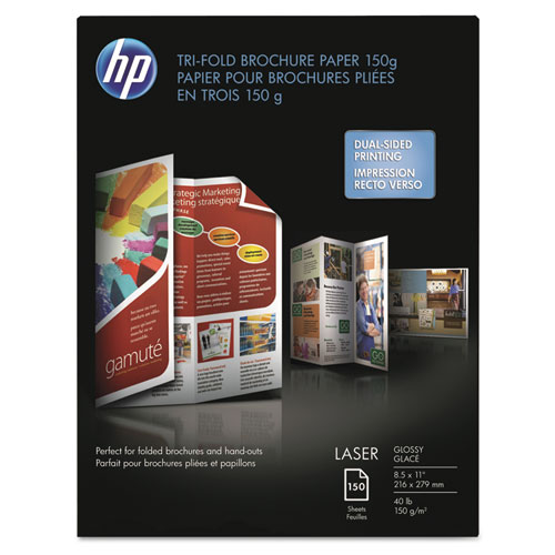 tri fold brochure paper size