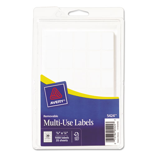 avery 5424 template - avery 5424 removable multi use labels handwrite only 5 8