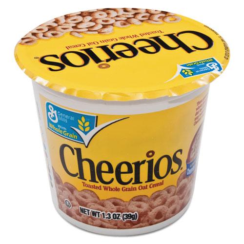 AVTSN13896 General Mills Cheerios Breakfast Cereal, Single-Serve 1.3Oz Cup, 6/Pack photo