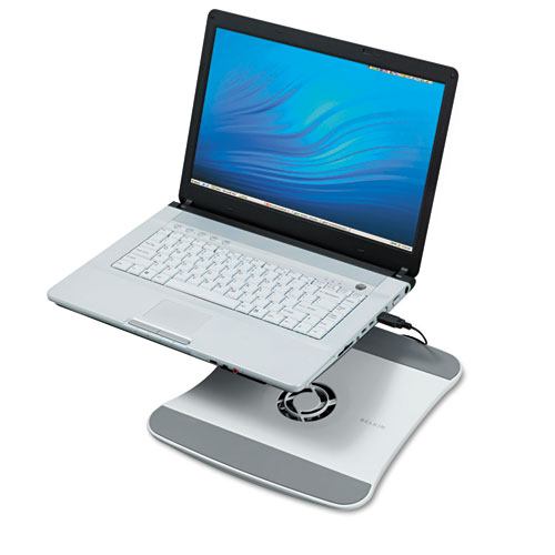 BLKF5L001 Belkin Laptop Cooling Stand With Wave Design, 11 1\/2 X 12 1\/2 X 1 3\/8, White
