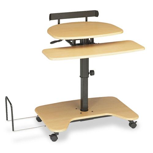 BLT46572 Balt Hi-Hi-Lo Adjustable Pneumatic Workstation, 39-1/2 X 31-1/4 X 39-1/4, Teak/Black