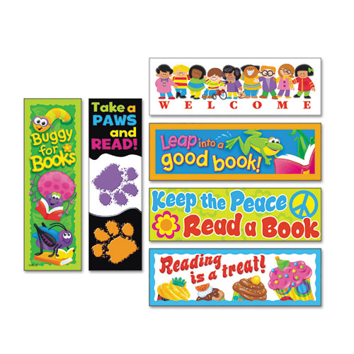TEPT12906 Trend Bookmark Combo Packs, Celebrate Reading Variety #1, 2W X 6H, 216/Pack