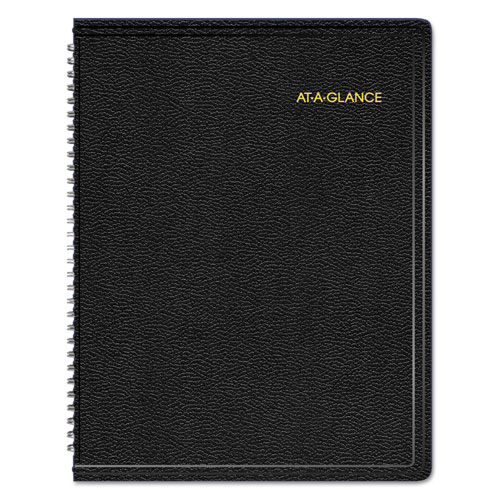 AAG70950V05 At A Glance Triple View WeeklyMonthly Appointment Book 8 14 X 10 78 Black 2015