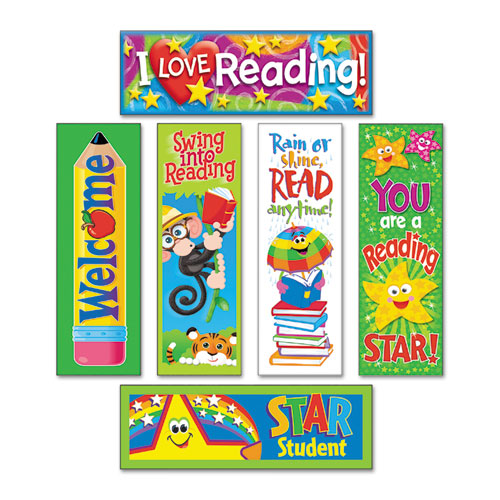 TEPT12907 Trend Bookmark Combo Packs, Reading Fun Variety Pack #2, 2W X 6H, 216/Pack