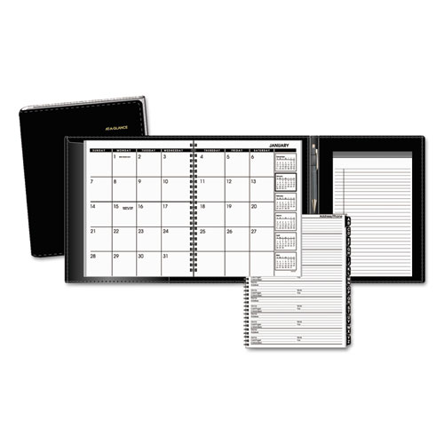 AAG70120P05 At A Glance Plus Monthly Planner 6 78 X 8 34 Black 2015
