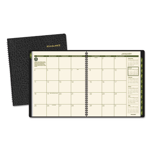 AAG70260G05 At A Glance Recycled Monthly Planner 9 X 11 Black 2015 2016