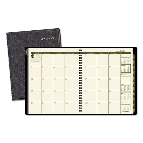 AAG70120G05 At A Glance Recycled Monthly Planner 6 78 X 8 34 Black 2015