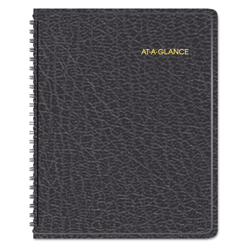 AAG70100V05 At A Glance Triple View WeeklyMonthly Appointment Book 6 78 X 8 34 Black 2015