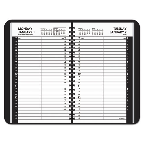 Daily Appointment Book with 15 Minute Appointments 4 7 8 x 8 White