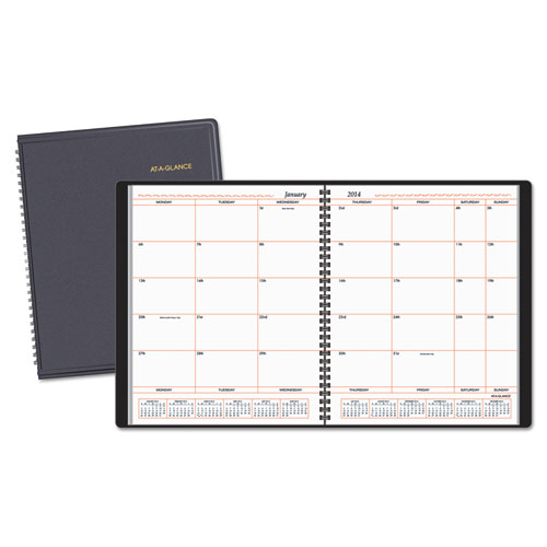 AAG7013005 At A Glance Monthly Planner In Business Week Format 8 X 10 White 2015