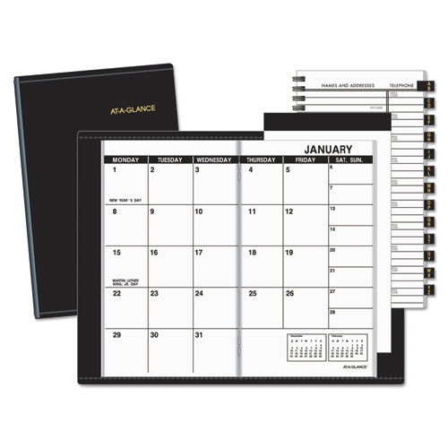 AAG7006405 At A Glance Pocket Size Monthly Planner 3 12 X 6 18 White 2015 2016