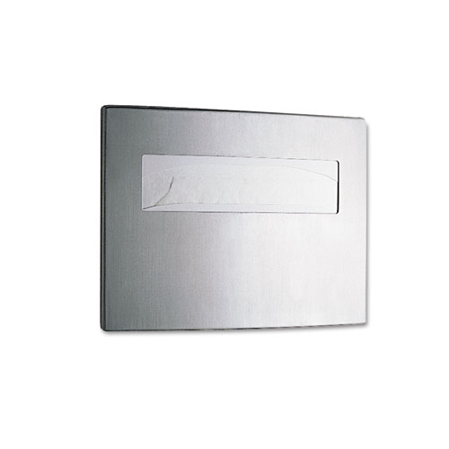Bobrick Toilet Seat Cover Dispenser, 15 3/4 x 2 1/4 x 11 1/4, Stainless Steel -  one toilet-seat-cover dispenser. at Sears.com