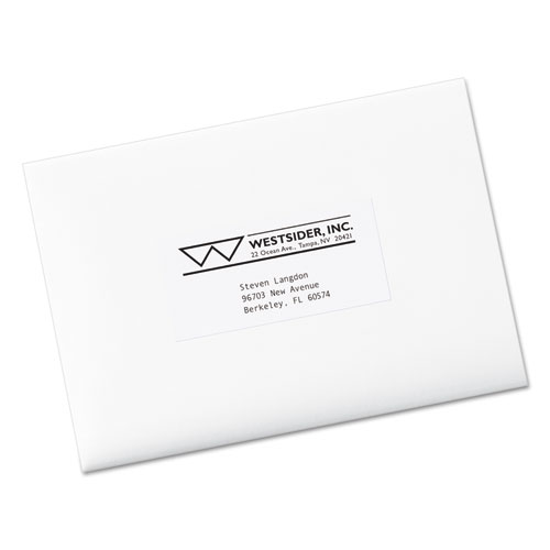 Avery 5352 copier mailing labels 2 x 4 1 4 white 1000 for Avery template 5352