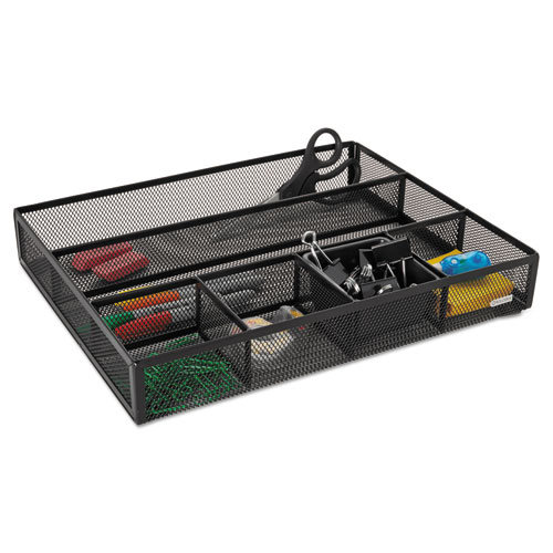 Deep desk drawer organizer metal mesh black - Desk drawer organizer ...
