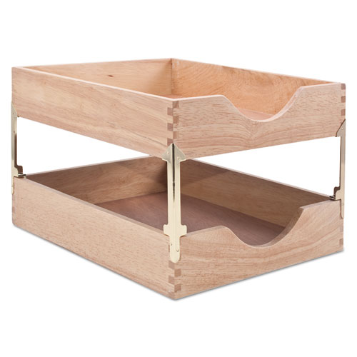 Attrayant Hardwood Letter Stackable Desk Tray, Oak
