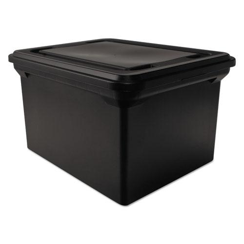 Advantus 34052 file tote storage box w lid legal letter for Letter legal storage boxes with lids