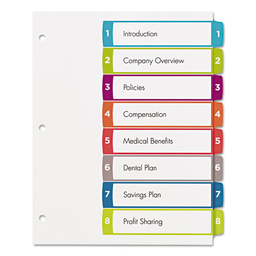 avery ready index template 31 tab - avery 11841 ready index table of contents dividers