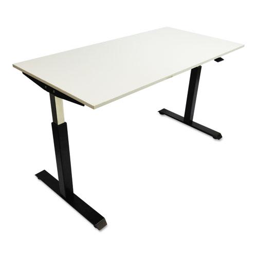 adaptivergo pneumatic height adjustable table base 26 1 4 to 39 5 8 black affordable. Black Bedroom Furniture Sets. Home Design Ideas