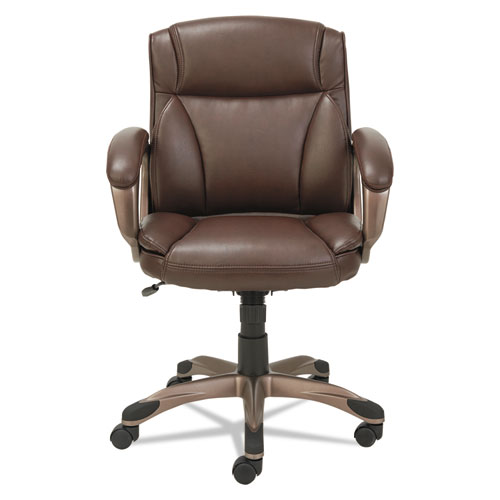 veon series low back leather task chair w coil spring cushion brown