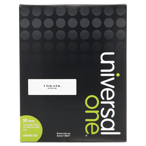 Laser Printer Permanent Labels 1 13 X 4 Clear 700box