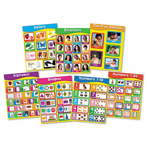"CDP144131 Carson-Dellosa Publishing Chartlet Set, Early Learning, 17"" X 22"", 1 Set"