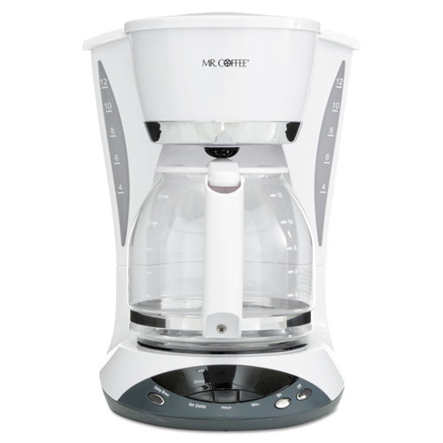 12-Cup Programmable Coffeemaker, White - WebOfficeMart.com