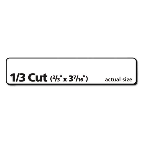 avery 5366 permanent file folder labels  trueblock  laser  inkjet  white  1500  box  ave5366