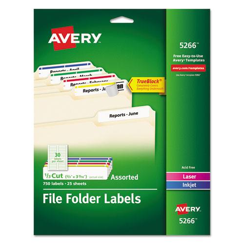 Permanent File Folder Labels Trueblock Inkjet Laser