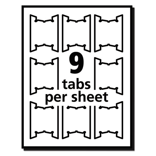 Print Write On Hanging Tabs 1 5 Tab 2 1 16 White 90