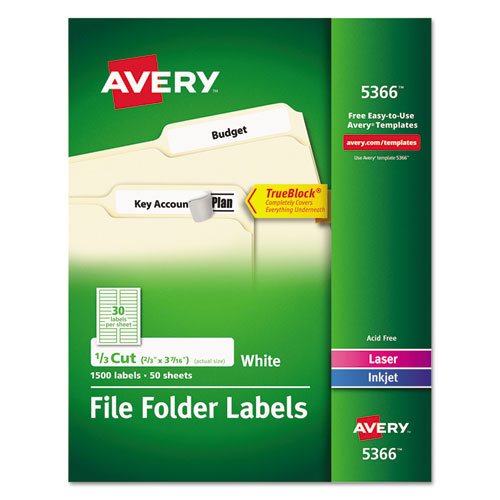 superwarehouse avery dennison filing labels avery 5366. Black Bedroom Furniture Sets. Home Design Ideas